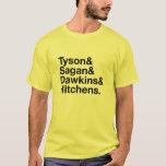 Héroes seculares amarillos y camiseta negra