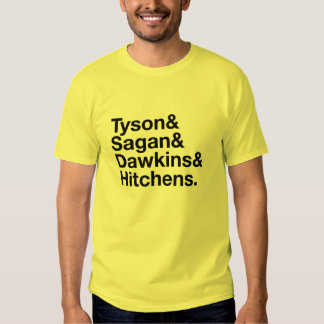 Héroes seculares amarillos y camiseta negra remeras