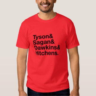 Héroes seculares rojos y camiseta negra polera