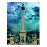 Heroes Square Column, Budapest(2) Postcard