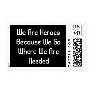 HEROES UNITED STATES POSTAGE STAMP BY WASTELAND