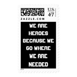Heroes United States Stamp By Wastelandmusic.com