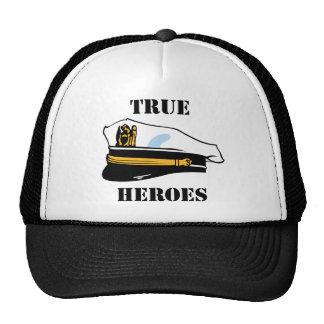 Héroes verdaderos de la marina de guerra gorras de camionero