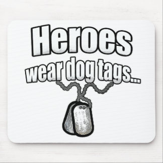 Heroes wear dog tags 2 mouse pad