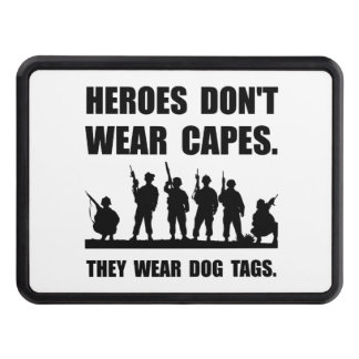 Heroes Wear Dog Tags Tow Hitch Cover