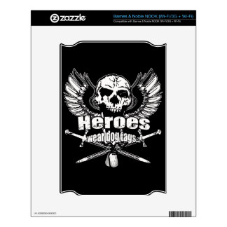 Heroes wear dog tags w. skins for the NOOK