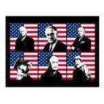 Héroes WW2 y la bandera americana Tarjetas Postales