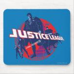 Héroes y globo globales de la liga de justicia alfombrillas de raton