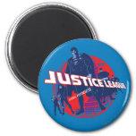 Héroes y globo globales de la liga de justicia iman para frigorífico