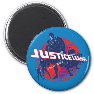 Héroes y globo globales de la liga de justicia imán redondo 5 cm