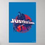 Héroes y globo globales de la liga de justicia póster