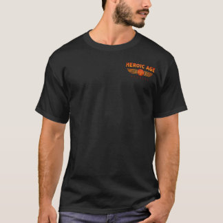 Heroic Age Studios small logo T plus back design T-Shirt