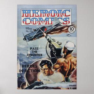 Heroic Comics Poster
