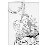 Heroic Couple with Kachinas Greeting Card