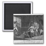 Heroic courage of a woman facing Vendean robbers 2 Inch Square Magnet