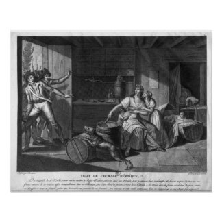Heroic courage of a woman facing Vendean robbers Poster