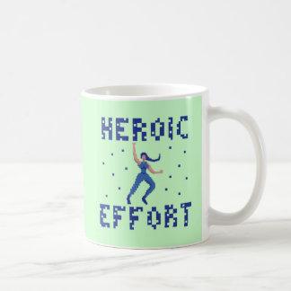 Heroic Effort 8 Bits Art Mug