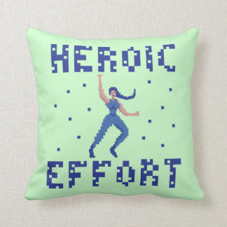 Heroic Effort 8 Bits Pillow