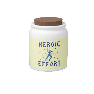 Heroic Effort Pixel Art Candy Jar
