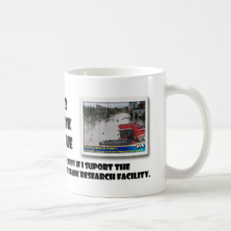 Heroic rescue in shark infested flood water mug