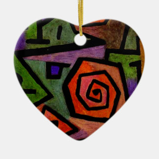 Heroic Roses by Paul Klee Abstract Art Ceramic Ornament