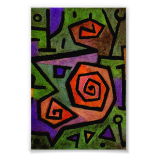 Heroic Roses by Paul Klee Abstract Art Photo Print