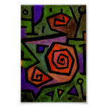 Heroic Roses by Paul Klee Abstract Art Poster