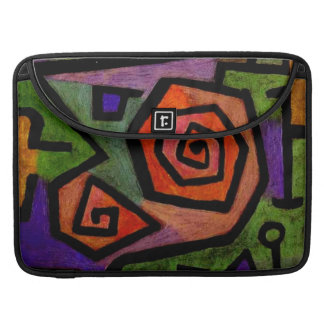 Heroic Roses by Paul Klee Abstract Art Sleeve For MacBooks