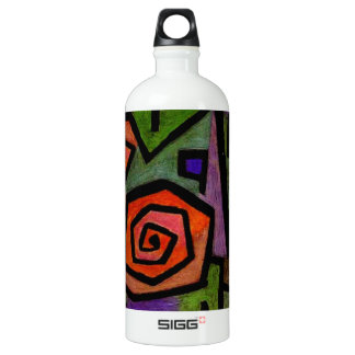 Heroic Roses by Paul Klee Abstract Art Water Bottle