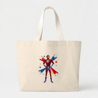 Heroic Stance Large Tote Bag
