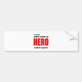 heroic superhero action admiration awesome emerges bumper stickers