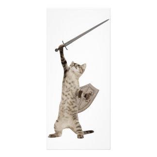 Heroic Warrior Knight Cat Rack Card