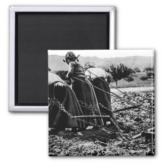 Heroic Women of France.  Hitched_War image 2 Inch Square Magnet