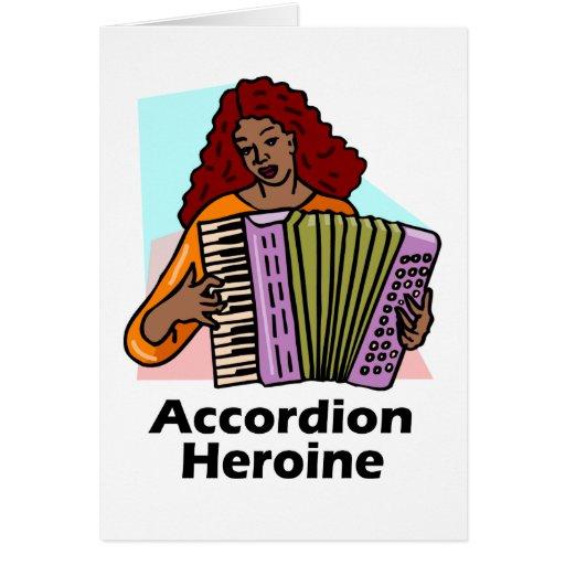 Heroína del acordeón felicitación
