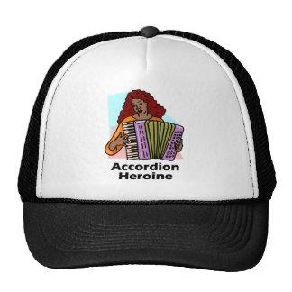 Heroína del acordeón gorra