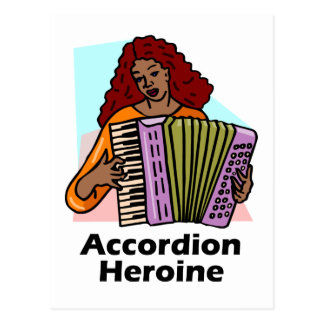 Heroína del acordeón postales