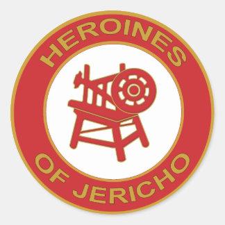 Heroínas de Jericó Pegatina Redonda