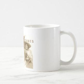 Heroínas del cuero crudo taza de café