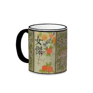 Heroine in Japanese Ringer Coffee Mug