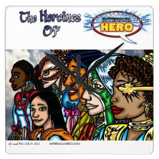 Heroines Of Internal Hero Square Wall Clock