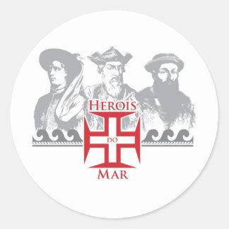 Herois do mar classic round sticker