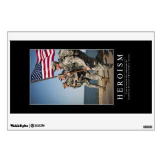 Heroism: Inspirational Quote 1 Wall Sticker