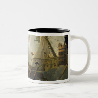 Heroism of the Crew of 'Le Vengeur du Peuple' Two-Tone Coffee Mug