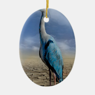 heron-684 ceramic ornament