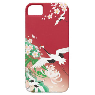 Heron and Dahlia A- Japanese Design iPhone Case