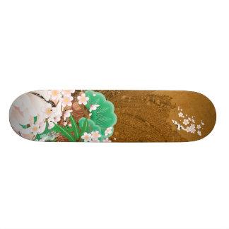Heron and Dahlia - Japanese Design Skateboard