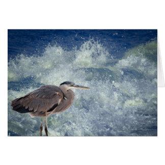 Heron and Surf at Dauphin Island Card