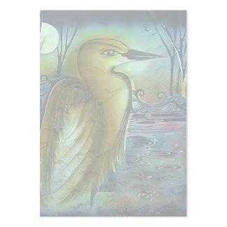 Heron at Night Lovely Artwork Business Card Templates