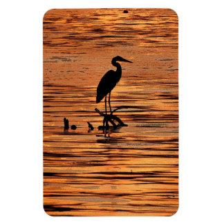 Heron at Orange Sunset Magnet