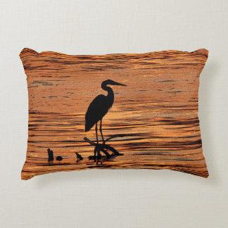 Heron at Sunset Accent Pillow